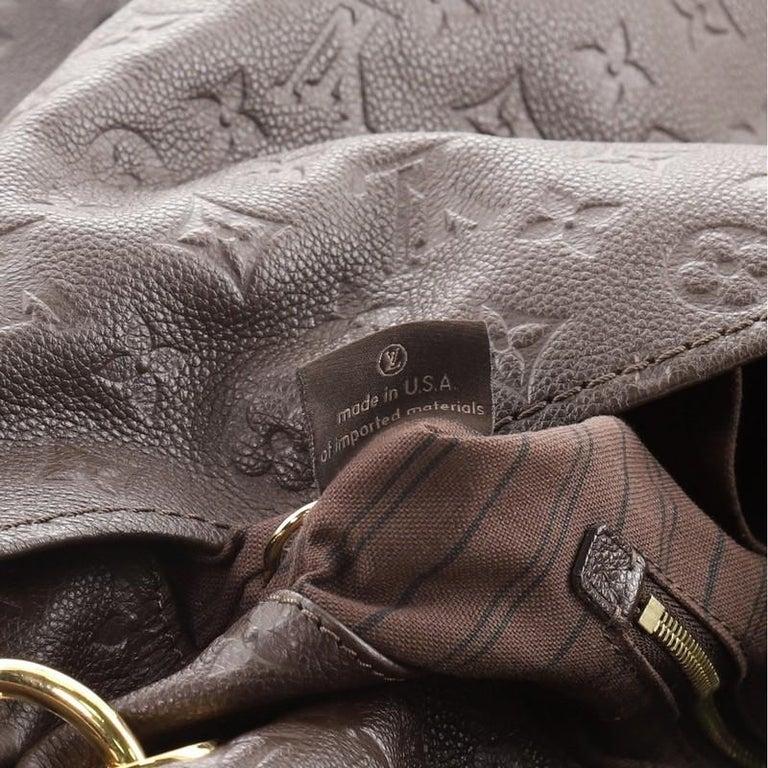 Louis Vuitton Artsy Handbag Monogram Empreinte Leather MM For Sale 5
