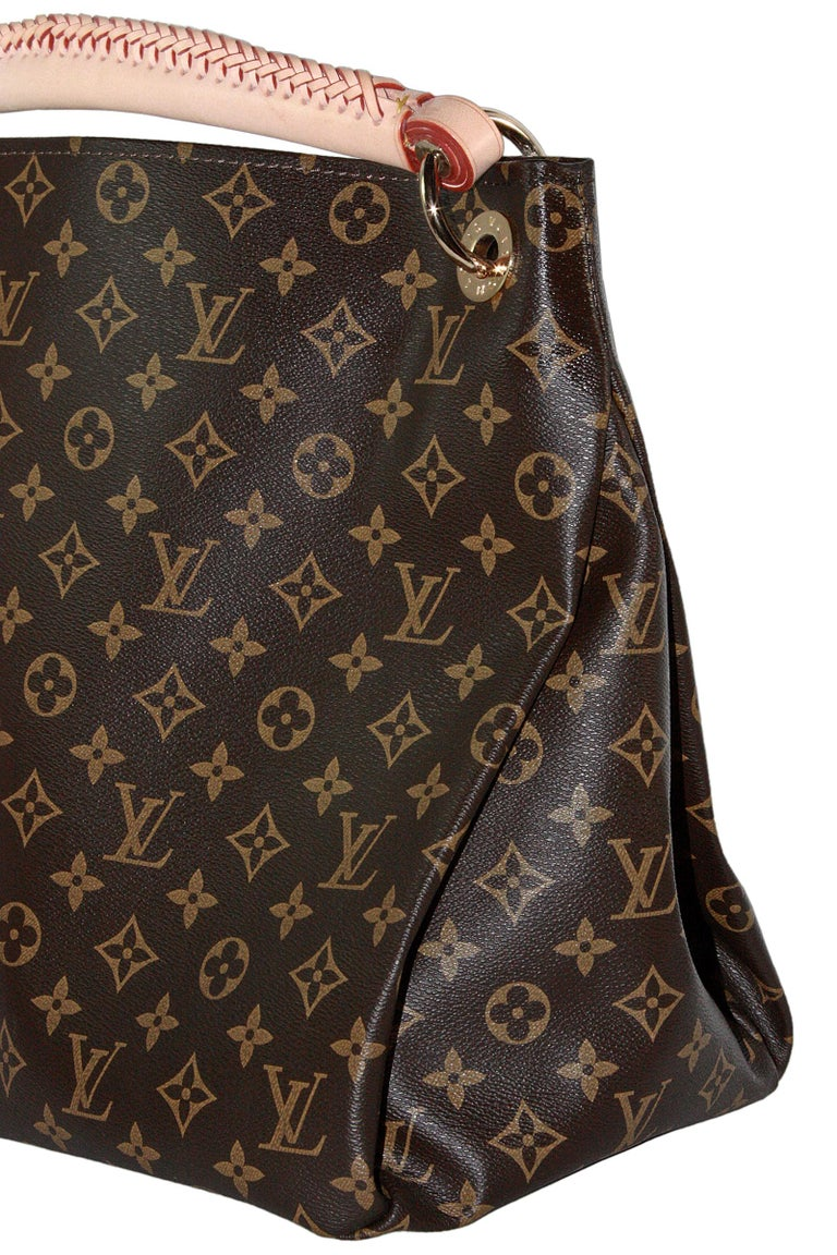 Louis Vuitton Artsy Hobo Braided Brown Leather Monogram Shoulder Bag For Sale 1