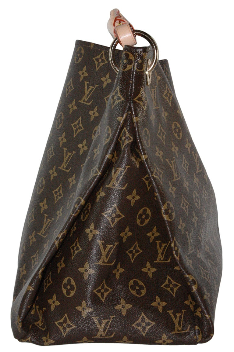 Louis Vuitton Artsy Hobo Braided Brown Leather Monogram Shoulder Bag For Sale 2