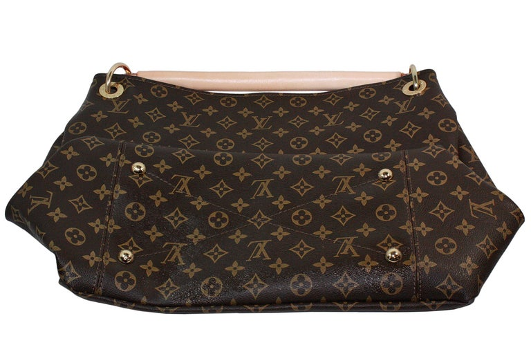Louis Vuitton Artsy Hobo Braided Brown Leather Monogram Shoulder Bag For Sale 3