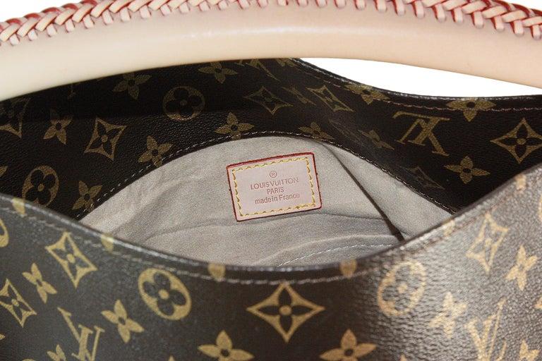 Louis Vuitton Artsy Hobo Braided Brown Leather Monogram Shoulder Bag For Sale 4