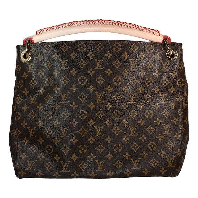 Louis Vuitton Artsy Hobo Braided Brown Leather Monogram Shoulder Bag For Sale