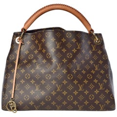 Louis Vuitton Artsy MM Brown Monogram Canvas Hobo Shoulder Bag, Like New