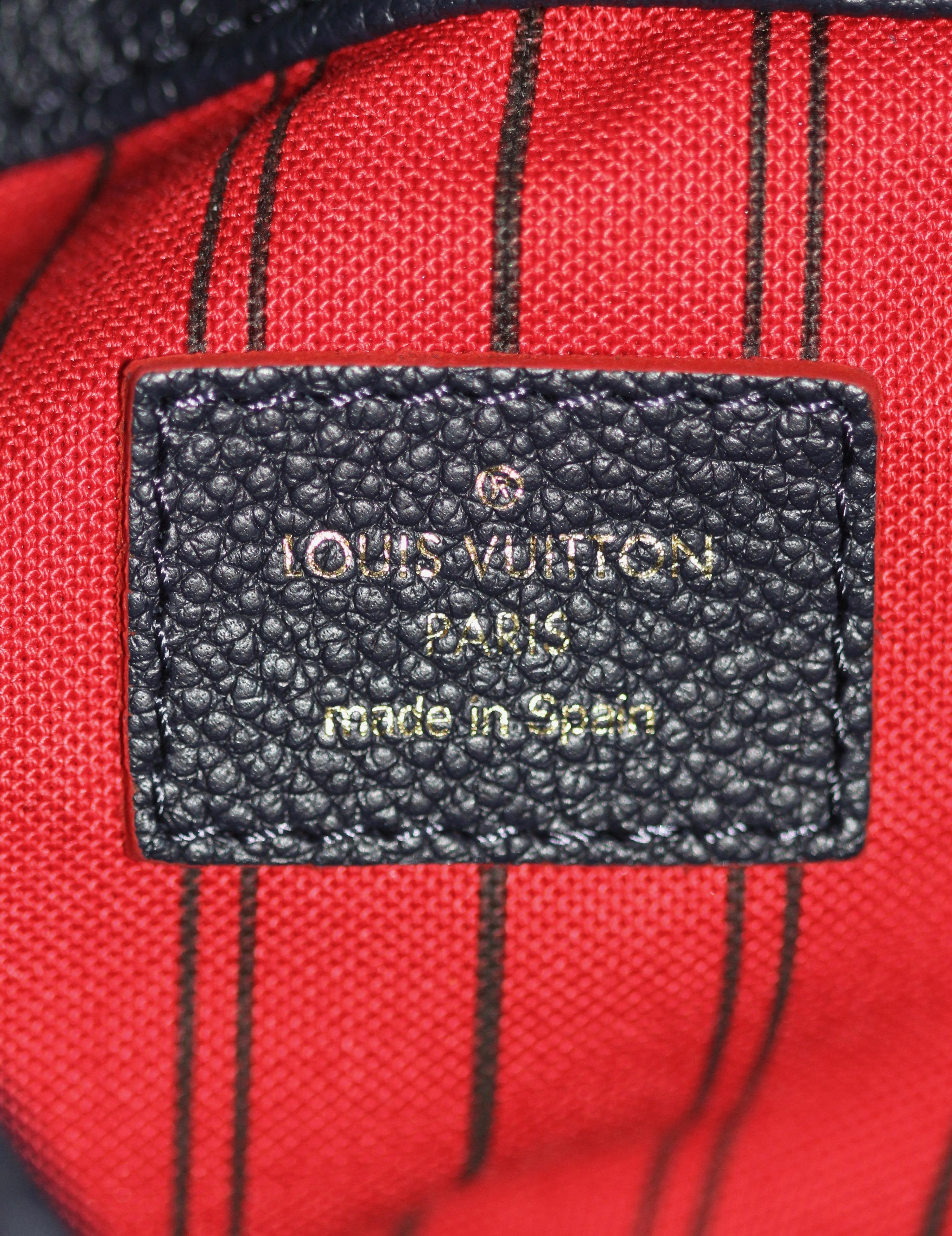 19e0ebd2198d Louis Vuitton Artsy MM Monogram Empreinte Navy and Red Tote Bag For Sale at  1stdibs