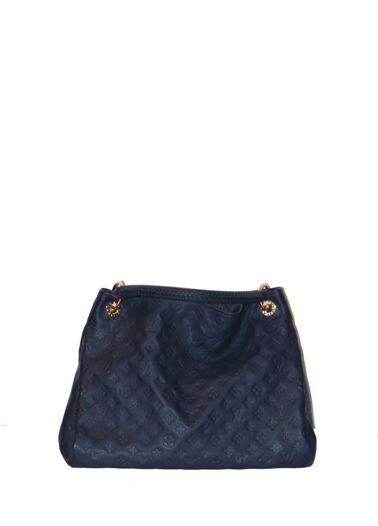 53418cf68e26 Louis Vuitton Artsy MM Monogram Empreinte Navy and Red Tote Bag For ...