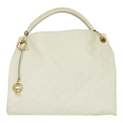 LOUIS VUITTON Artsy Shoulder bag in White Leather