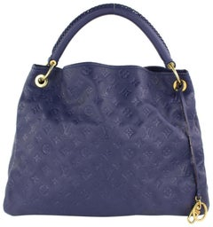 Louis Vuitton Artsy (Ultra Rare) Empreinte Orage Mm Braid 4lz0116 Blue Hobo Bag