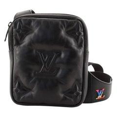 Louis Vuitton Asymmetrical Sling Bag Monogram Embossed Puffy Lambskin