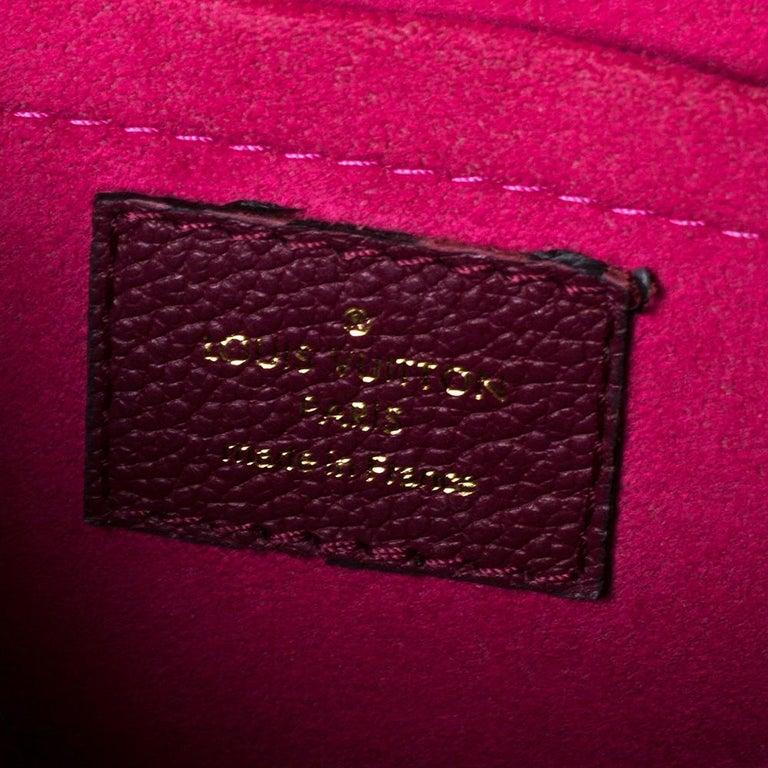Louis Vuitton Aurore Monogram Empreinte Leather Saint Sulpice Bag For Sale 5