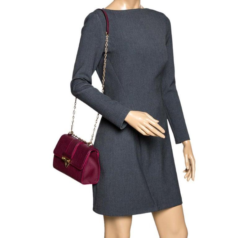 Black Louis Vuitton Aurore Monogram Empreinte Leather Saint Sulpice Bag For Sale
