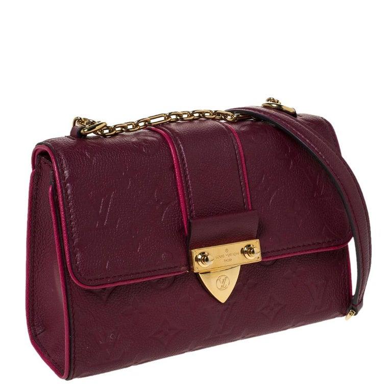 Louis Vuitton Aurore Monogram Empreinte Leather Saint Sulpice Bag In Good Condition For Sale In Dubai, Al Qouz 2