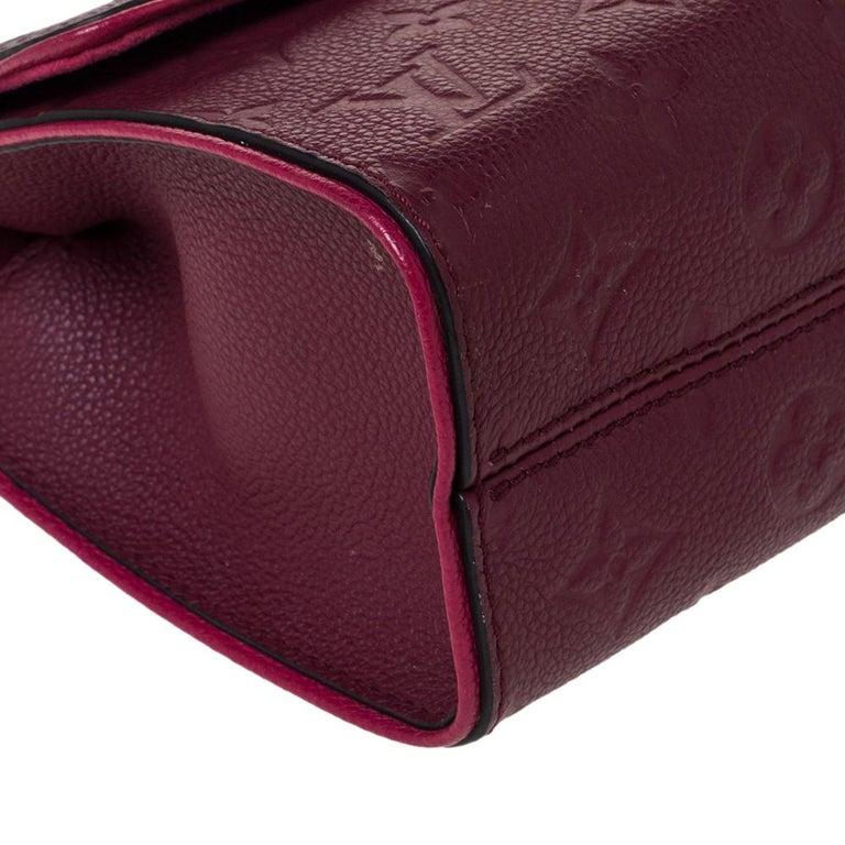 Louis Vuitton Aurore Monogram Empreinte Leather Saint Sulpice Bag For Sale 2