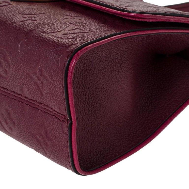Louis Vuitton Aurore Monogram Empreinte Leather Saint Sulpice Bag For Sale 3