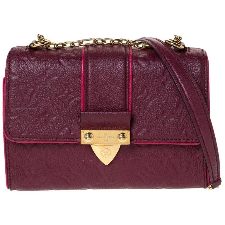 Louis Vuitton Aurore Monogram Empreinte Leather Saint Sulpice Bag For Sale
