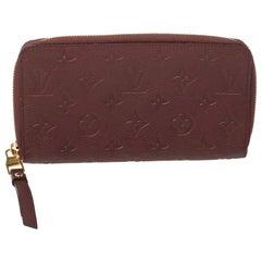 Louis Vuitton Aurore Monogram Empreinte Leather Zippy Wallet