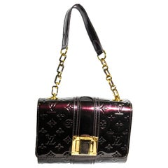 Louis Vuitton Auvergine Amarante Vernis Monogram Vermont Avenue Flap Bag