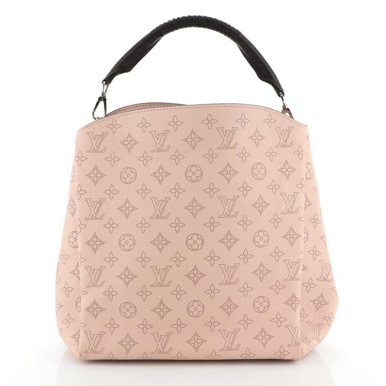 Louis Vuitton Babylone Handbag Mahina Leather PM In Good Condition For Sale In New York, NY