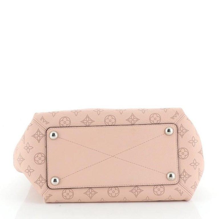 Women's or Men's Louis Vuitton Babylone Handbag Mahina Leather PM For Sale