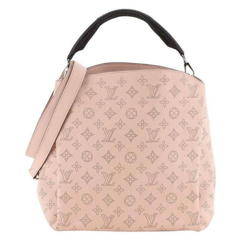 Louis Vuitton Babylone Handbag Mahina Leather PM For Sale