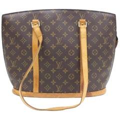 Louis Vuitton Babylone Monogram Zippered Tote 109561 Brown Canvas Shoulder Bag