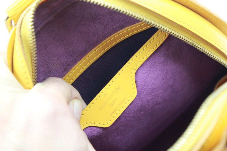 Louis Vuitton Backpack Mabillon in Yellow Epi Leather For Sale 1