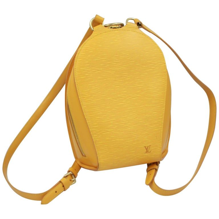 Louis Vuitton Backpack Mabillon in Yellow Epi Leather For Sale