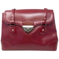 Louis Vuitton Bagatelle GM Red Epi Leather Shoulder Bag