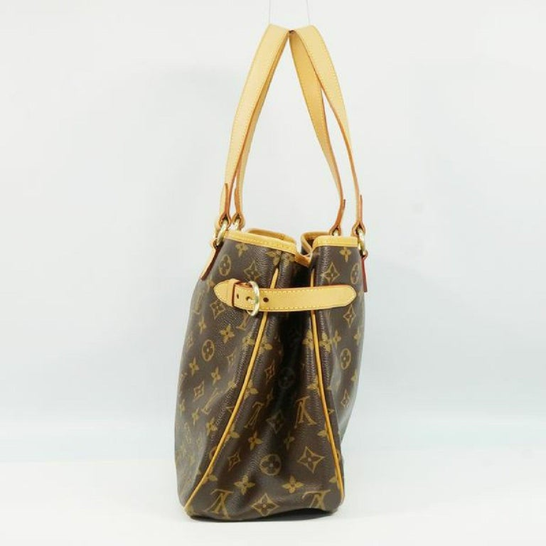 An authentic LOUIS VUITTON Batignolles Horizontal Womens tote bag M51154 The outside material is Monogram canvas. The pattern is Batignolles Horizontal. This item is Contemporary. The year of manufacture would be 2006. Rank AB signs of wear