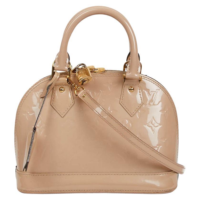 LOUIS VUITTON BB Alma Bag in Powder Pink Patent Leather