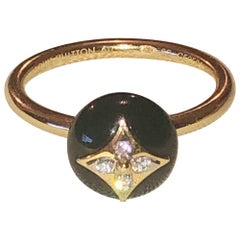 Louis Vuitton B.Blossom yellow gold ring - Onyx and Diamond