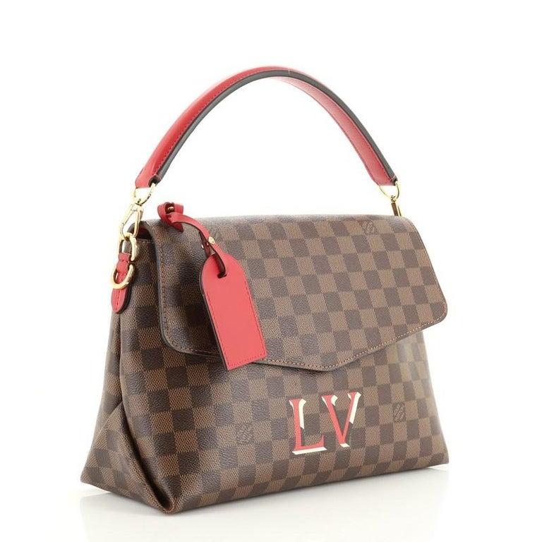 Brown Louis Vuitton Beaubourg Handbag Damier MM For Sale