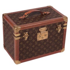 Louis Vuitton Beauty Case, Leather and Canvas, France, 1980s