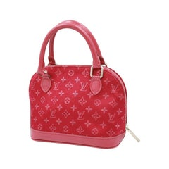 Louis Vuitton bébé Alma in red satin
