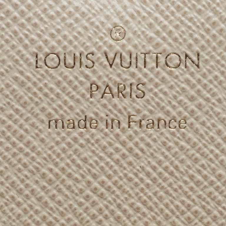 Louis Vuitton Beige Damier Azur Canvas Emilie Wallet 6