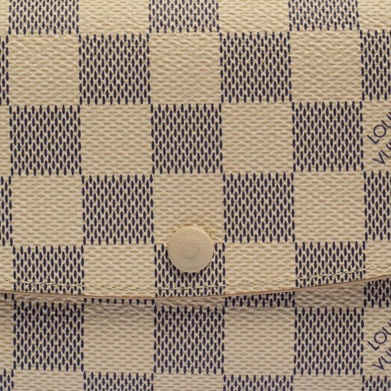 Louis Vuitton Beige Damier Azur Canvas Emilie Wallet 2