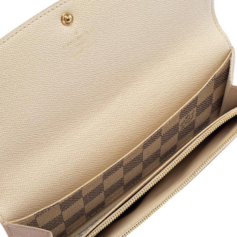Louis Vuitton Beige Damier Azur Canvas Emilie Wallet 4