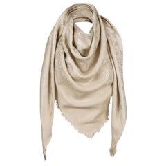 Louis Vuitton Beige/Dune Monogram Shawl Scarf/Wrap Scarf Size 56X56