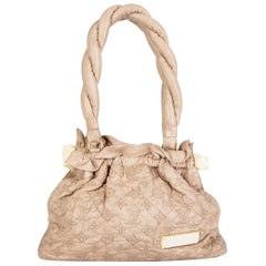LOUIS VUITTON beige leather STRATUS Monogram OLYMPE PM Shoulder Bag LTD ED