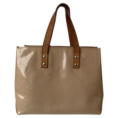 Louis Vuitton Beige Monogram Cuir Vernis Reade PM Tote Bag