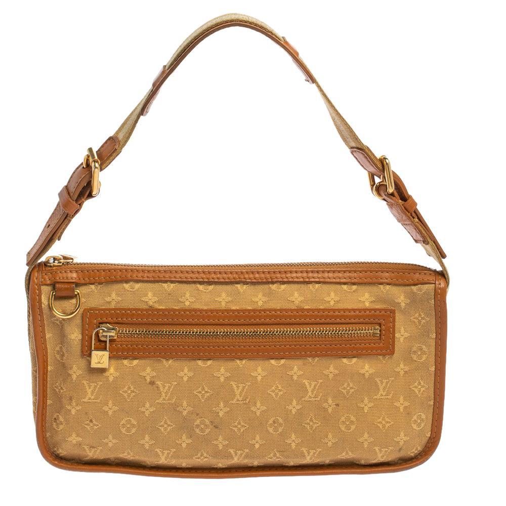 Louis Vuitton Beige Monogram Mini Lin Canvas Kathleen Pochette Bag
