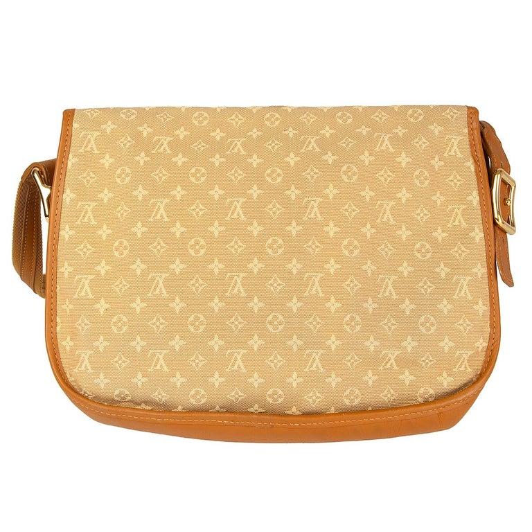 Orange LOUIS VUITTON beige Monogram Mini Lin MAJORIE Shoulder Bag For Sale
