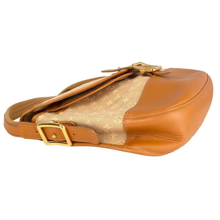 LOUIS VUITTON beige Monogram Mini Lin MAJORIE Shoulder Bag In Excellent Condition For Sale In Zürich, CH
