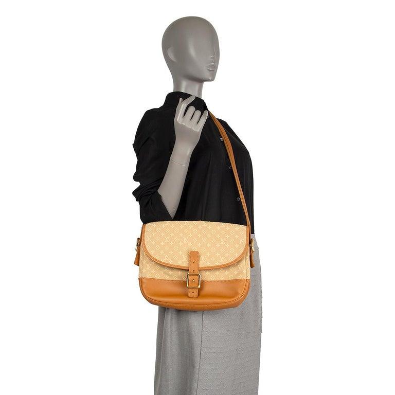 LOUIS VUITTON beige Monogram Mini Lin MAJORIE Shoulder Bag For Sale 3