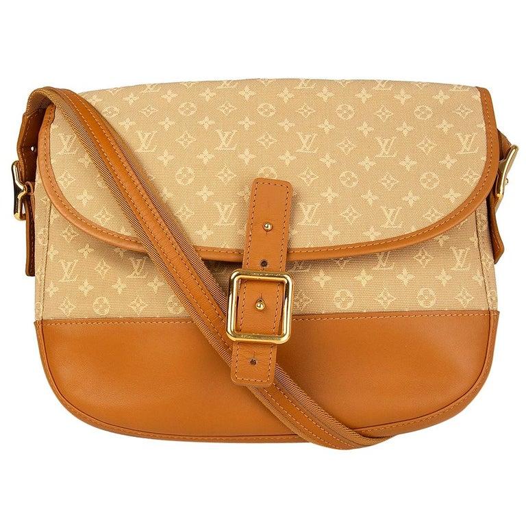 LOUIS VUITTON beige Monogram Mini Lin MAJORIE Shoulder Bag For Sale