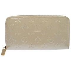 Louis Vuitton Beige Monogram Vernis Zippy Wallet