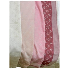 Louis Vuitton Beige/Pink/Rose /Rouge Shaded Monogram Shawl Scarf/Wrap Size 56X56