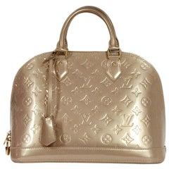 Louis Vuitton Beige Poudre Monogram Vernis Alma PM Bag
