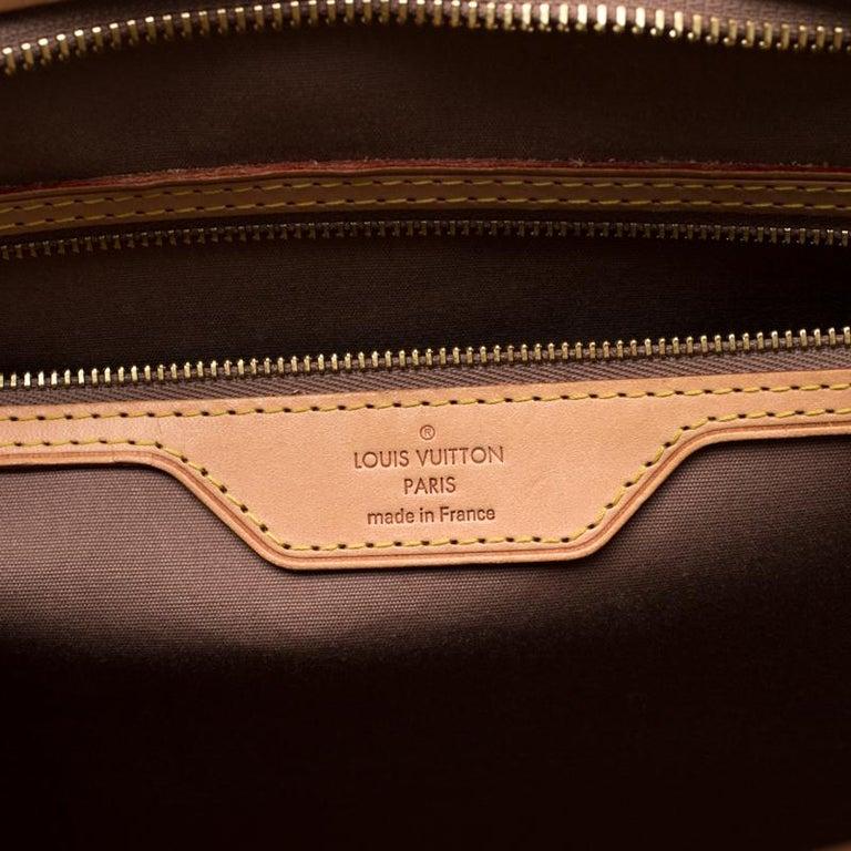Louis Vuitton Beige Poudre Monogram Vernis Brea GM Bag For Sale 2