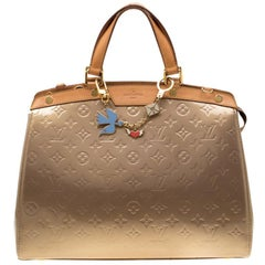 Louis Vuitton Beige Poudre Monogram Vernis Brea GM Bag