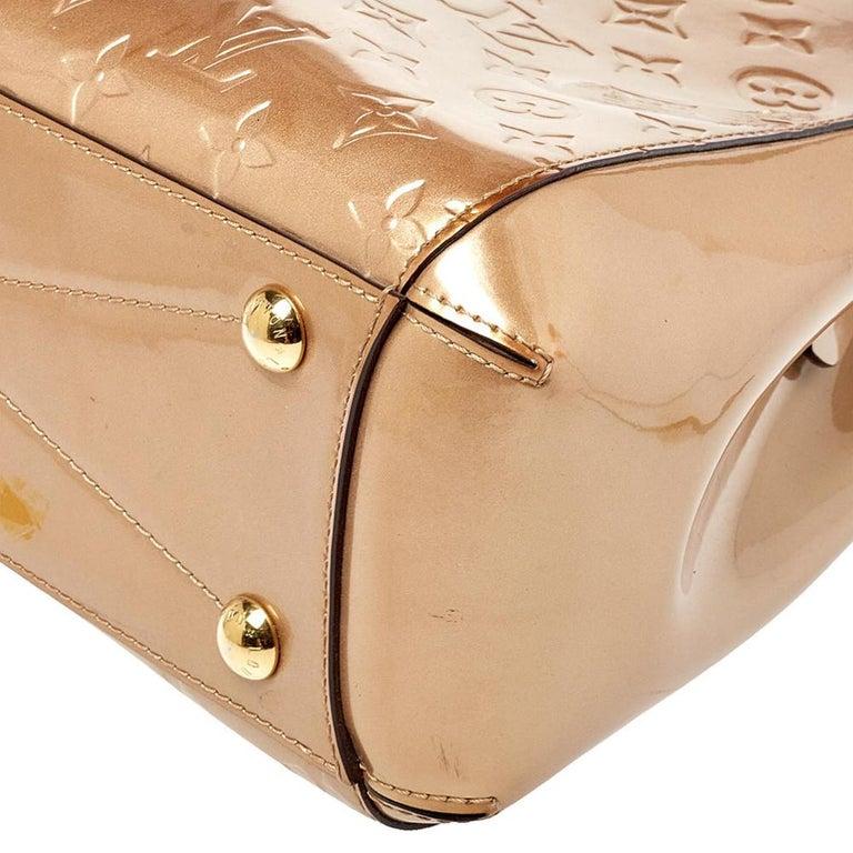 Louis Vuitton Beige Poudre Monogram Vernis Montaigne MM Bag 6